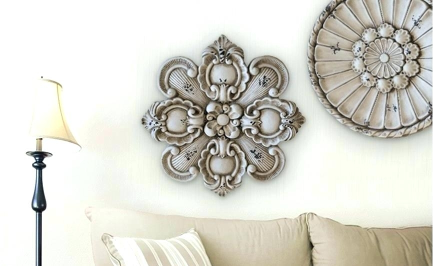 Outdoor Wall Medallion Stucco Wall Medallions Outdoor Medallion Wall with regard to Medallion Wall Art