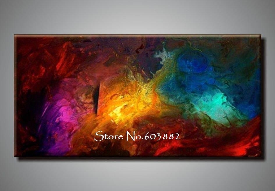 Outstanding Best 100 Handpainted Large Canvas Wall Art High Quality For Cheap Oversized Canvas Wall Art (View 13 of 25)