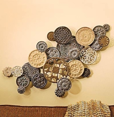 Outstanding Wall Art Decor Bonkers Button Dimensional Wall Art intended for 3 Dimensional Wall Art