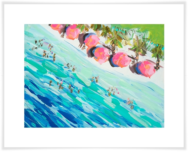 Overhead Beach, Beach & Ocean Canvas Wall Art | Greenbox Within Ocean Wall Art (Image 17 of 25)