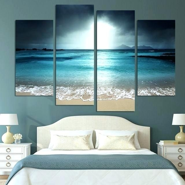 Oversized Abstract Wall Art Wall Arts Canvas Wall Art For Bedrooms 4 Within Oversized Teal Canvas Wall Art (View 23 of 25)