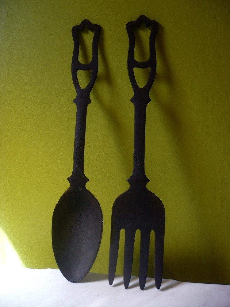 Oversized Spoon And Fork Wall Decor Superb Oversized Spoon And Fork Regarding Fork And Spoon Wall Art (Image 20 of 25)