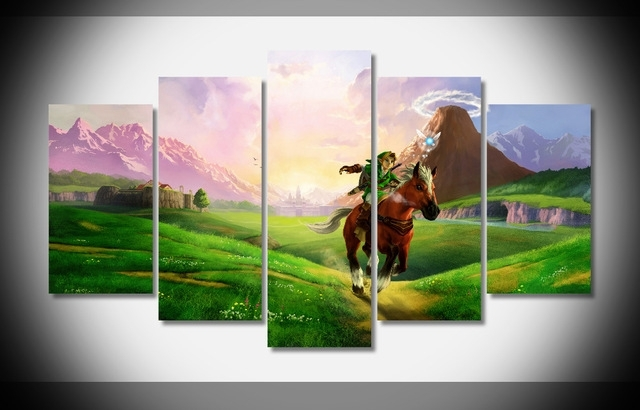 P2272 Legend Of Zelda Nintendo Poster Print On Canvas Wall Art Decor Inside Nintendo Wall Art (Image 14 of 20)