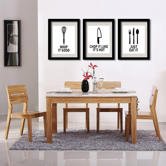 P32 Eat Well Wall Art Print Poster For Kitchen Decor Decorative Wall Regarding Decorative Wall Art (View 8 of 20)