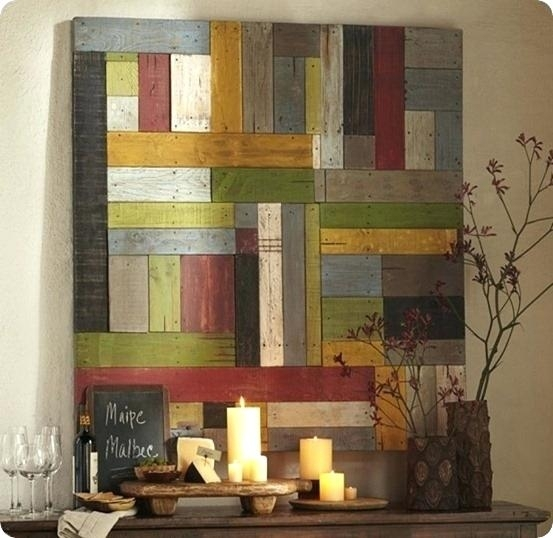 Paintings On Wood Planks Plank Wall Art Painted Pieced Wood Home With Regard To Plank Wall Art (Image 8 of 20)