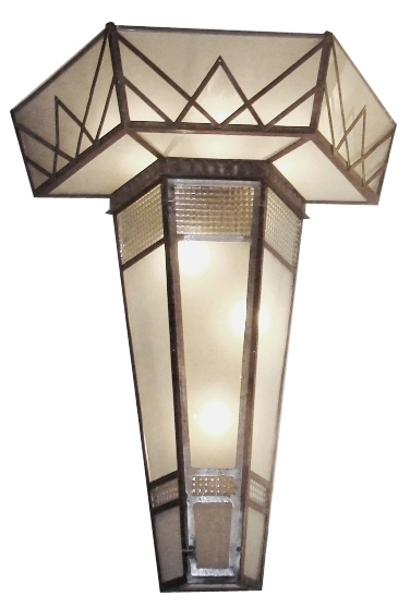 Pair Monumental 1930's Art Deco Wall Sconces From France | Modernism Intended For Art Deco Wall Sconces (View 21 of 25)