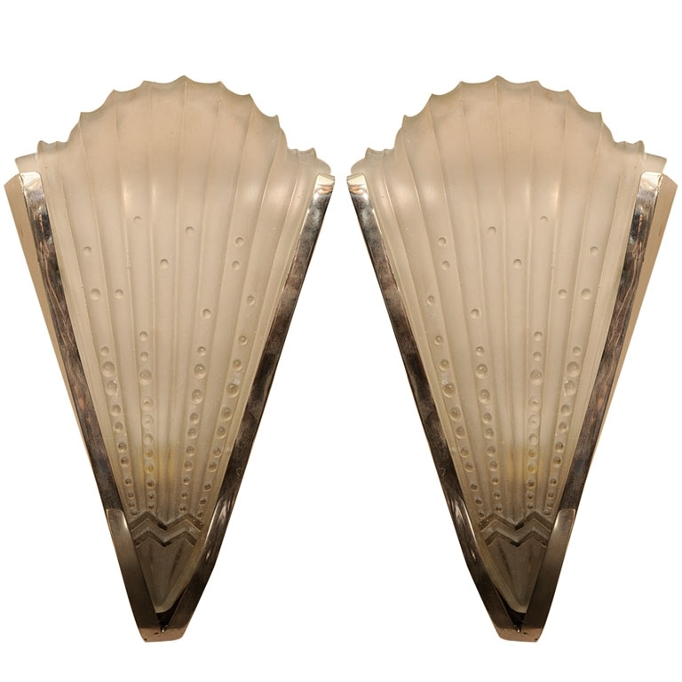 Pair Of Art Deco Wall Sconces – Paul Stamati Gallery With Art Deco Wall Sconces (Image 19 of 25)