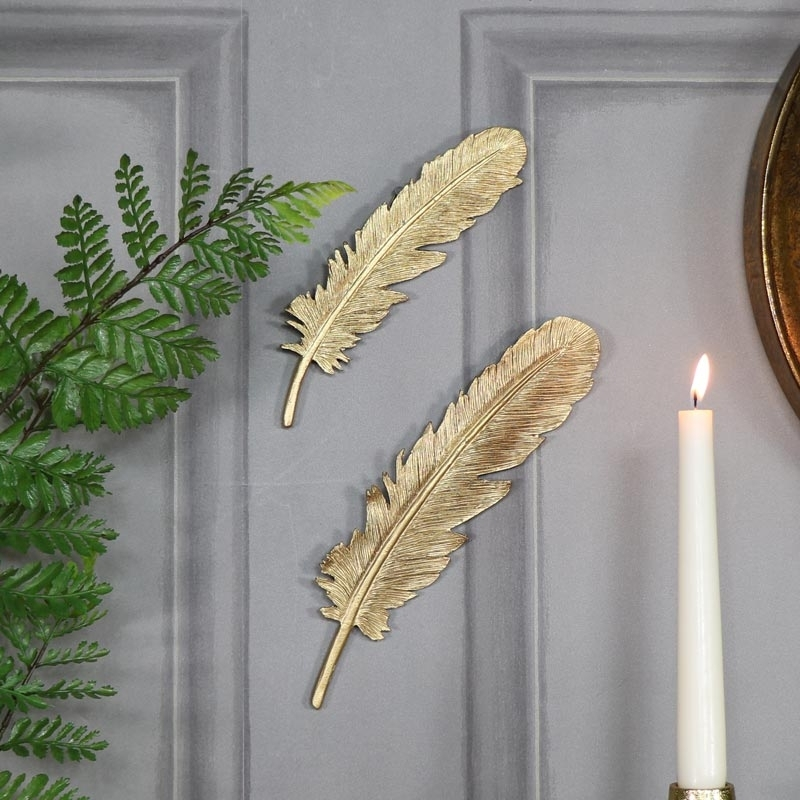 Pair Of Feather Wall Art : Andrews Living Arts – Look Wonderful In Feather Wall Art (View 10 of 25)