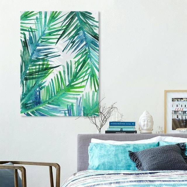 Palm Leaf Wall Art Stunning Design Tropical Wall Art Small Home For Tropical Wall Art (Image 8 of 20)