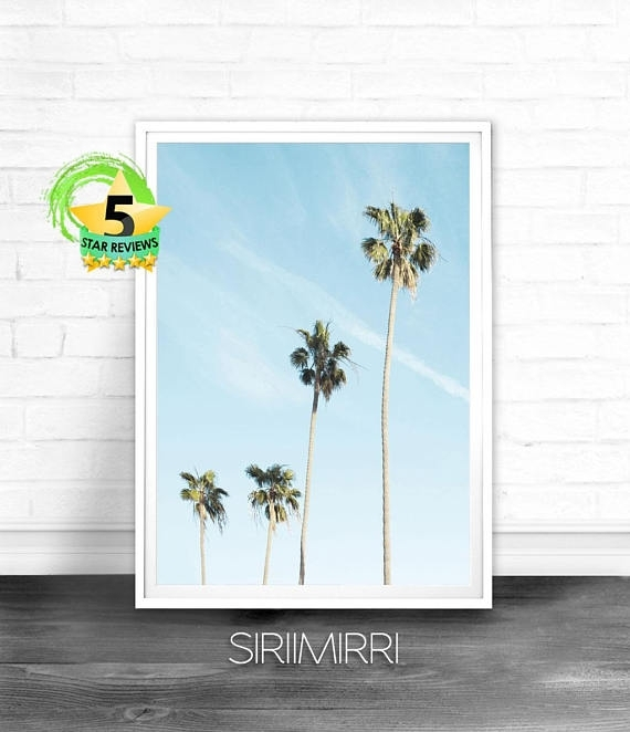 Palm Tree Wall Art Palm Tree Decor Tropical Wall Art | Tropical With Palm Tree Wall Art (Image 10 of 25)
