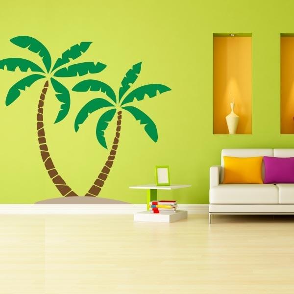 Palm Tree Wall Decal | Palm Tree Wall Art | Wall Decal World Throughout Palm Tree Wall Art (View 17 of 25)