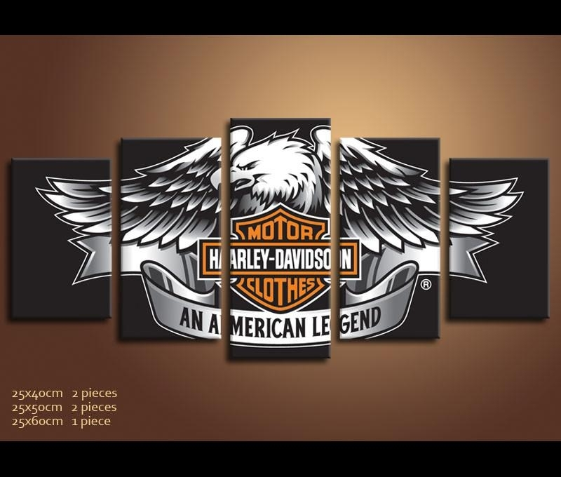 Panels Hd Prints Best Harley Davidson Wall Art – Wall Decoration Ideas Inside Harley Davidson Wall Art (View 2 of 25)