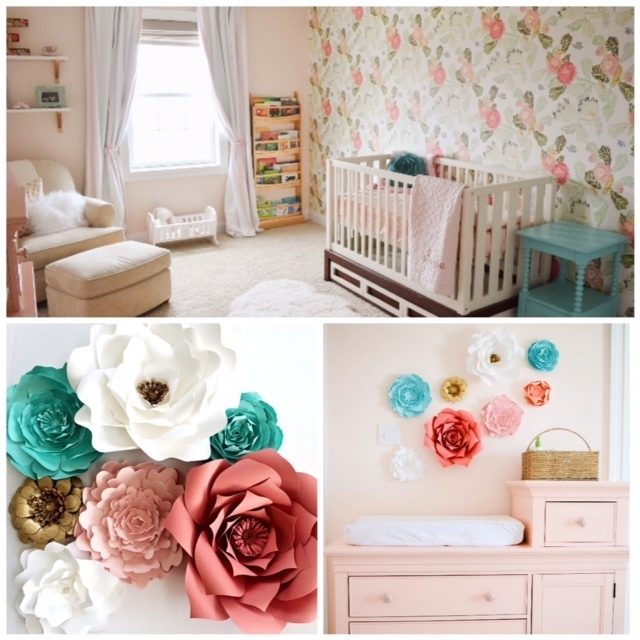 Paper Flower Nursery Wall Art | Paperflora Within Flower Wall Art (View 13 of 20)