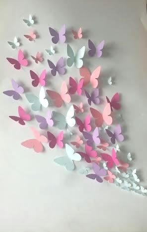 Paper Wall 3D Butterfly – 3D Wall Art – Paper Butterfly | Kağıt With Paper Wall Art (Image 20 of 25)