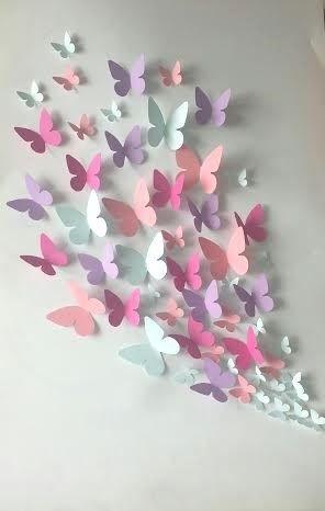 Paper Wall 3D Butterfly – 3D Wall Art – Paper Butterfly | Kağıt With Paper Wall Art (View 20 of 25)