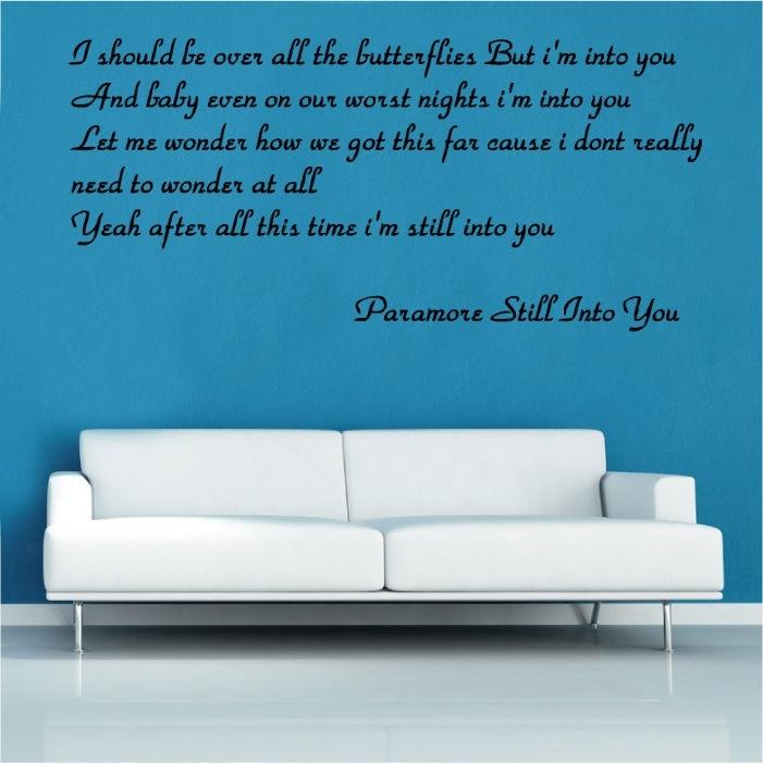 Paramore Still Into You Song Lyrics Vinyl Wall Art | Shop Regarding Song Lyric Wall Art (View 5 of 20)