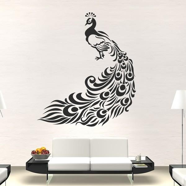 Peacock Wall Stickers Bird Wall Art In Peacock Wall Art (Image 8 of 10)