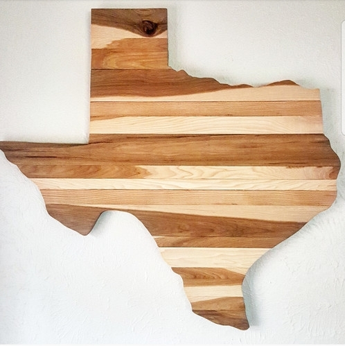 Pecan Texas Wall Art With Texas Wall Art (Image 10 of 25)