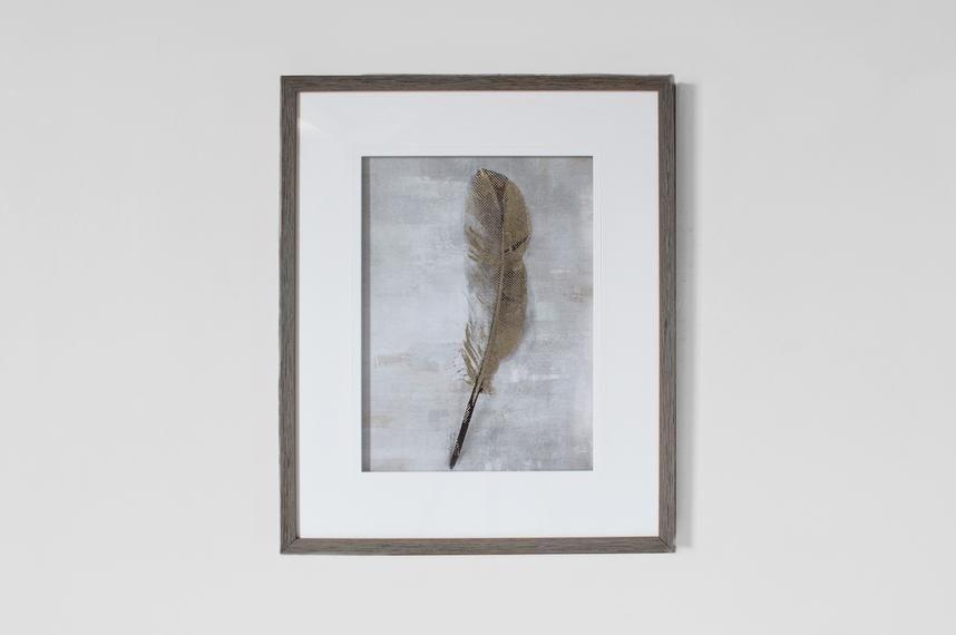 Perch & Parrow | Framed Golden Feather Wall Art Regarding Feather Wall Art (Image 20 of 25)