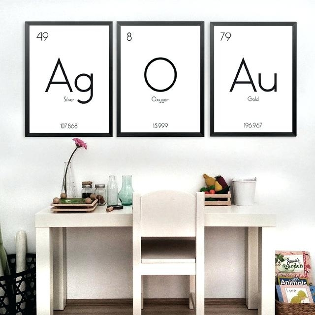 Periodic Table Wall Art Vintage Periodic Table Wall Art – Payges (View 17 of 20)
