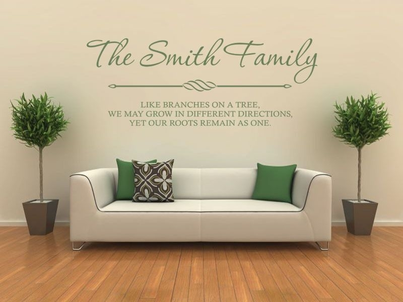 Personalised Family Wall Art & Quote Wall Sticker Decal Modern Transfer Regarding Family Wall Art (View 6 of 10)