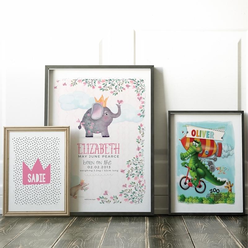 Personalised Kids Wall Art Prints – Spatz Mini Peeps® Inside Wall Art Prints (View 16 of 20)