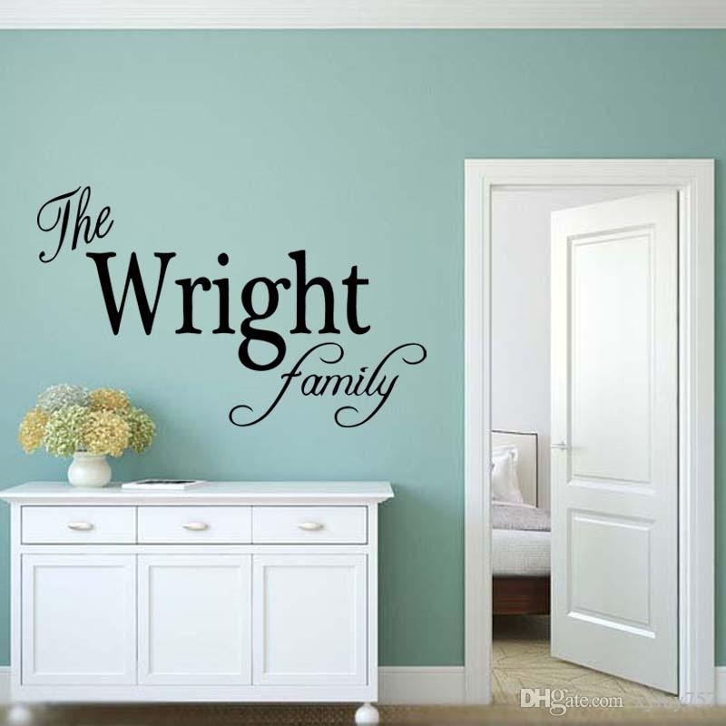 Personalized Family Name Wall Art Vinyl Decal Removable Sticker Pertaining To Name Wall Art (View 14 of 25)