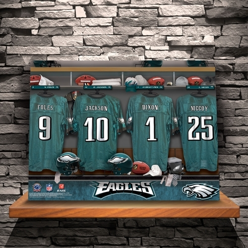 Personalized Nfl Locker Room Canvas Print – Personalize At Intended For Nfl Wall Art (Image 20 of 20)