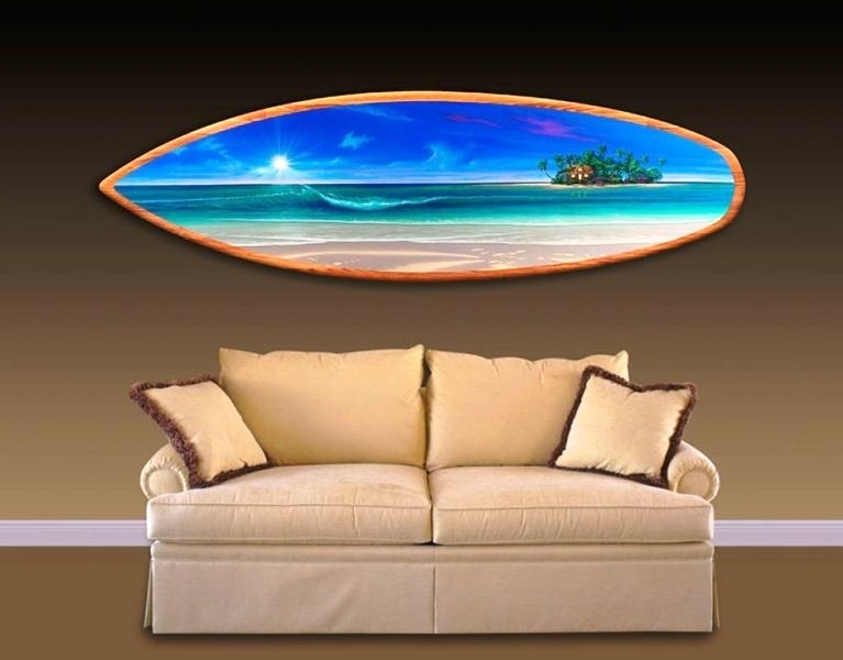 Personalized Surfboard Wall Art — Room Decor : How To Select Within Surfboard Wall Art (Image 7 of 25)