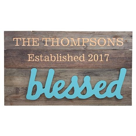 Personalized Wood Pallet Wall Art – 10077814 | Hsn Pertaining To Personalized Wood Wall Art (View 22 of 25)