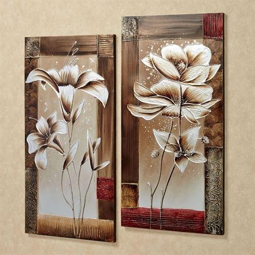 Petals Of Spring Floral Canvas Wall Art Set With Regard To Floral Canvas Wall Art (View 4 of 25)