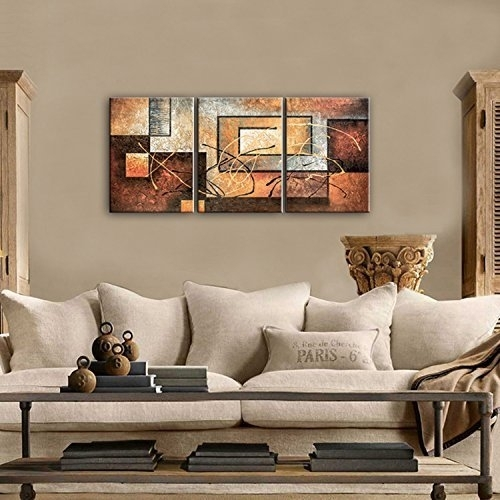 Phoenix Decor Abstract Canvas Wall Art Oil Paintings On Canvas For Intended For Modern Painting Canvas Wall Art (View 9 of 25)