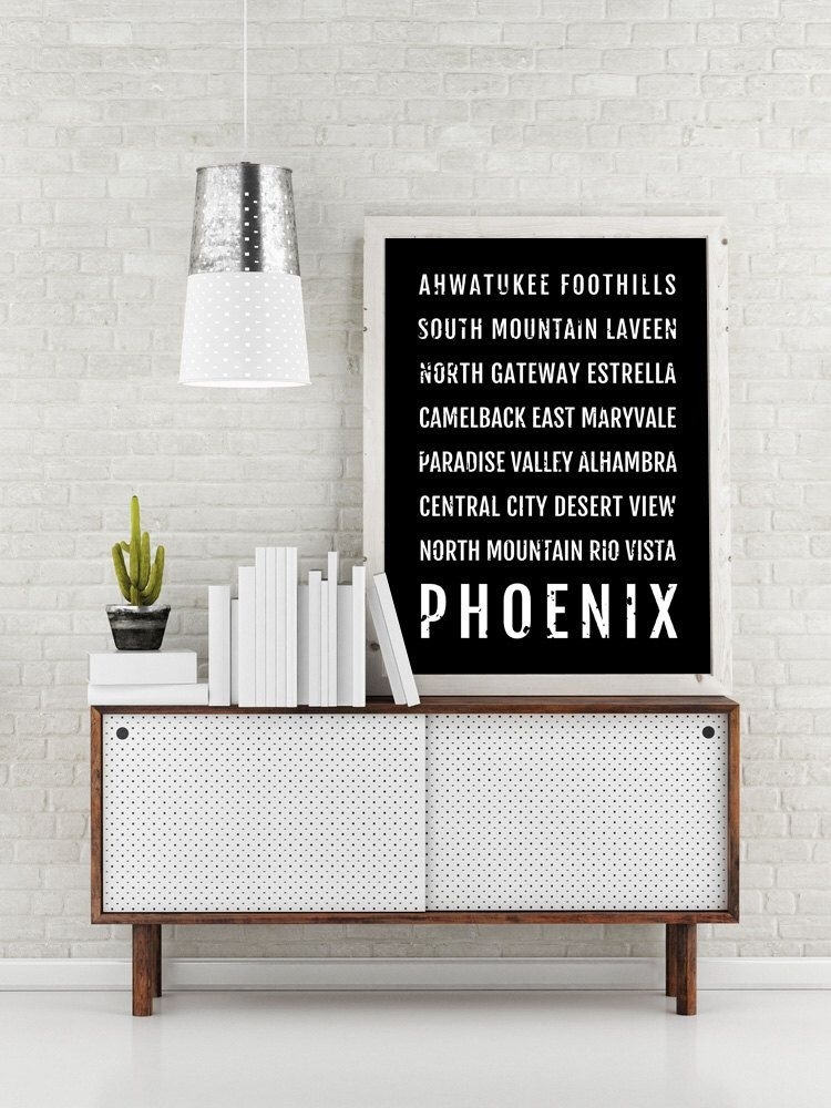 Phoenix Print, Phoenix Subway Sign Poster, Arizona Wall Art, Décor In Arizona Wall Art (Image 23 of 25)