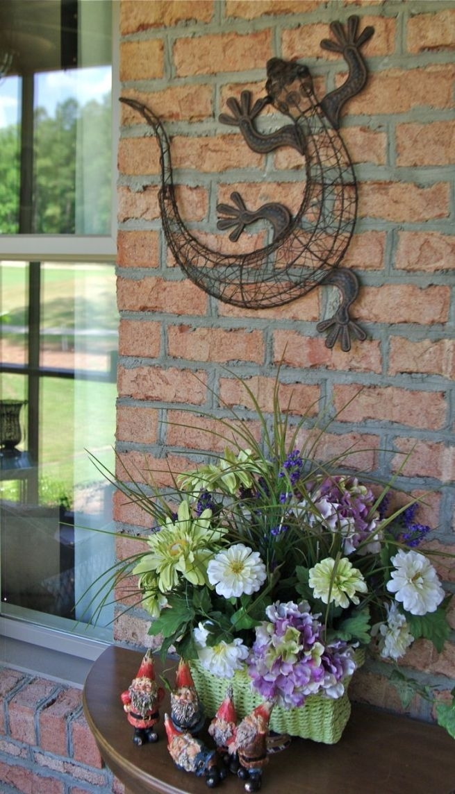 Photo Of Garden Wall Decor Ideas Garden Wall Decorations Outdoor Throughout Outdoor Wall Art Decors (Image 16 of 20)