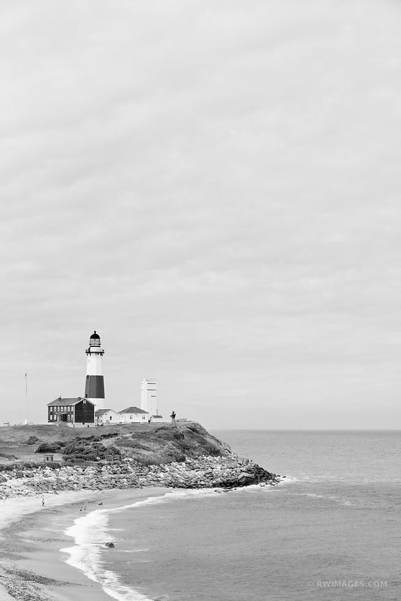 Photo Print Of Montauk Point Lighthouse Long Island New York Black For Long Island Wall Art (View 9 of 25)