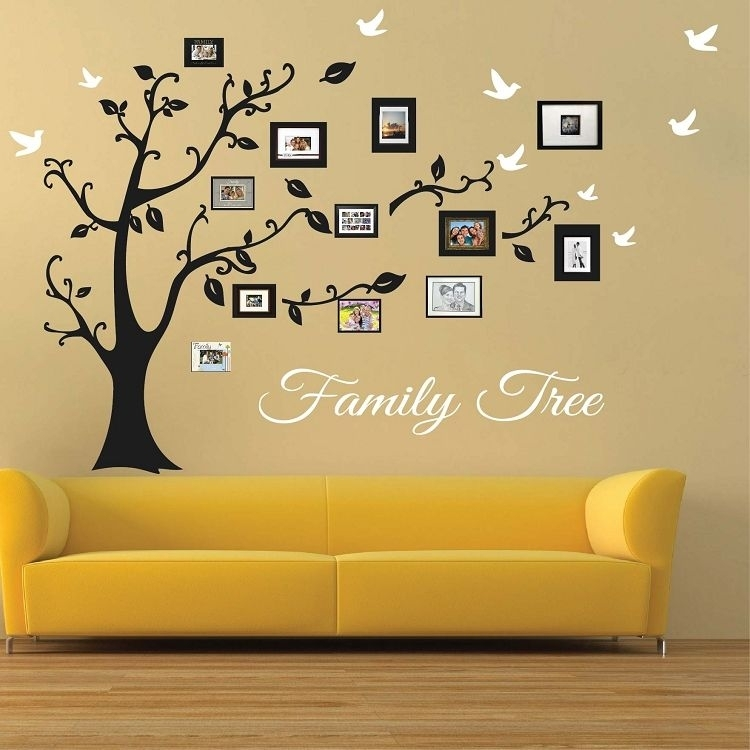 Picture Frame Family Tree Wall Art | Large Wall Murals | Pinterest For Wall Tree Art (View 4 of 20)