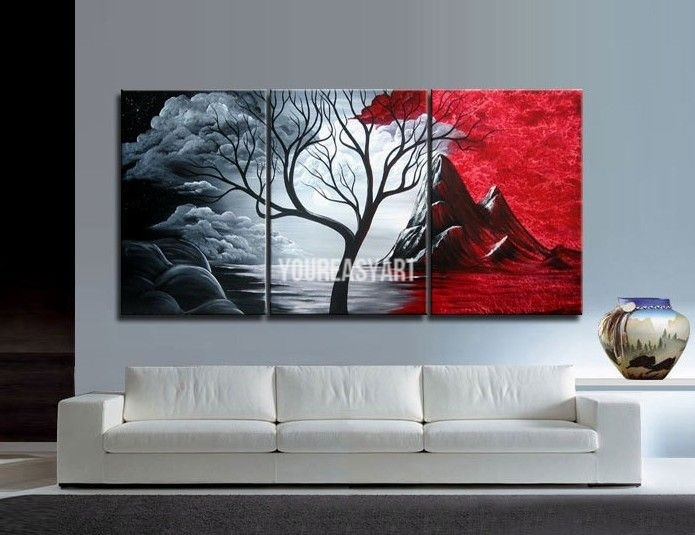 Piece Wall Art Large Cheap Modern Abstract Oil Painting Canvas Within Cheap Large Wall Art (Image 25 of 25)
