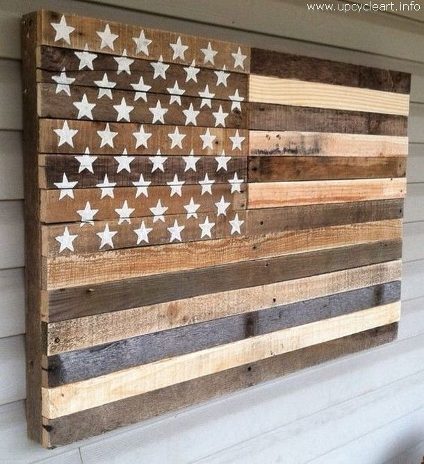 Pincody Gastes On Art | Pinterest | Pallets, Tobacco Sticks And For Wooden American Flag Wall Art (Image 7 of 25)