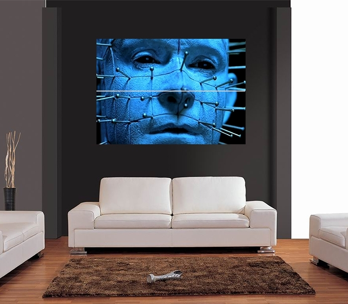 Pinhead Hellraiser Horror Vector Giant Wall Art Print Picture Poster Throughout Giant Wall Art (Image 21 of 25)