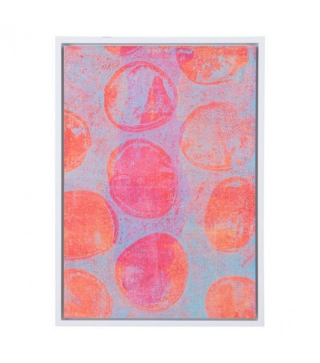 Pink Bubbles Modern Framed Canvas Wall Art Pertaining To Modern Framed Wall Art Canvas (View 19 of 25)