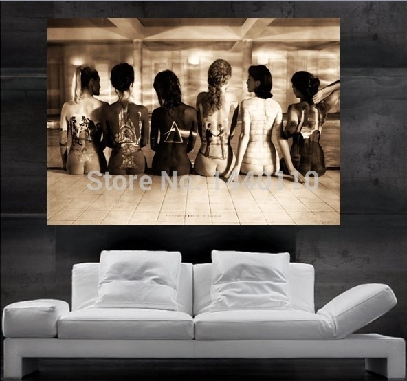 Pink Floyd Spia Back Poster Print Wall Art 8 Parts Giant Huge Free Throughout Giant Wall Art (Image 22 of 25)