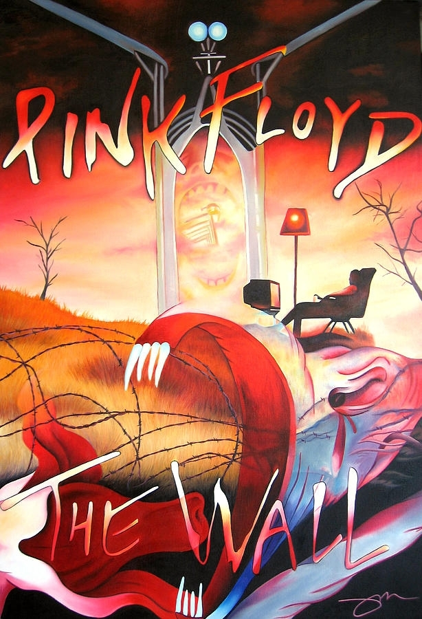 Pink Floyd The Wall Paintingjoshua Morton Within Pink Floyd The Wall Art (Image 16 of 20)