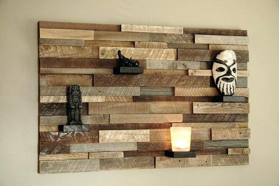 Planked Wall Art Wood Wall Planks Reclaimed Driftwood Look Peel And Throughout Plank Wall Art (Image 11 of 20)