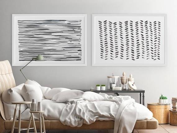 Pleasurable Horizontal Wall Art House Interiors Large Modern Within Horizontal Wall Art (Image 21 of 25)