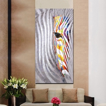 Pop Watercolour Vertical Canvas Decor Frame Painting Wall Art Animal Within Vertical Wall Art (Image 15 of 20)