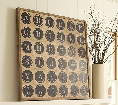 Pottery Barn Typewriter Art Knock Off – Rachel Teodoro Throughout Pottery Barn Wall Art (Image 8 of 10)