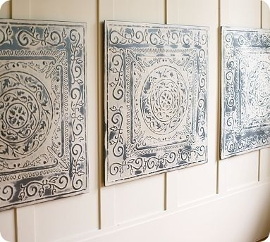 "Pottery Barn Vintage Tin Tiles  Knock Off Decor ~ | Our ""homestead For Pottery Barn Wall Art (Image 9 of 10)"