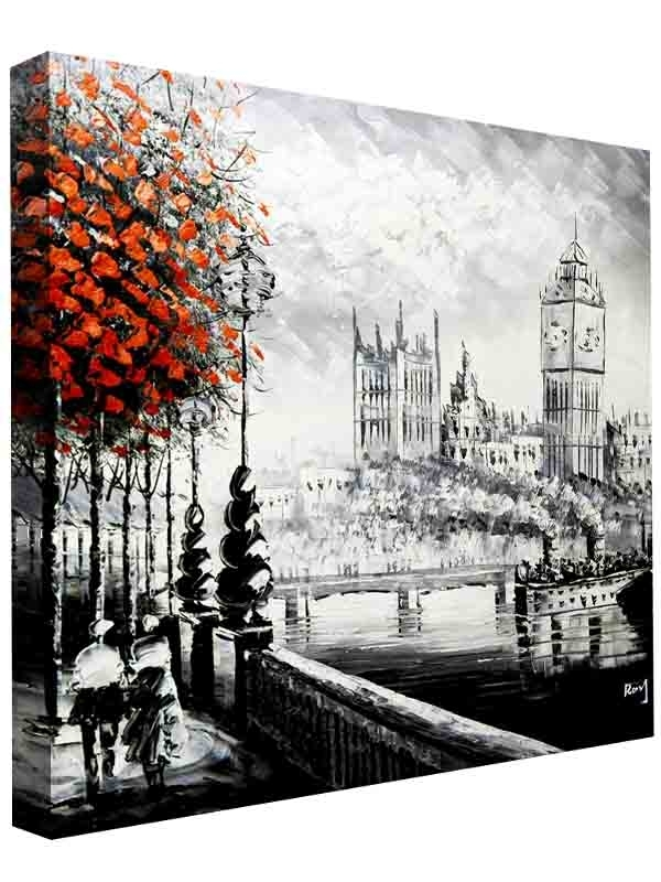 Premium Autumn In London Canvas Wall Art – Cav 2222 14 – Dareechay With London Wall Art (View 13 of 25)