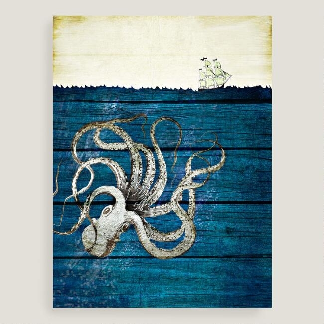 Pretentious Octopus Wall Art Best Design Interior Canvas World Intended For World Market Wall Art (View 16 of 25)