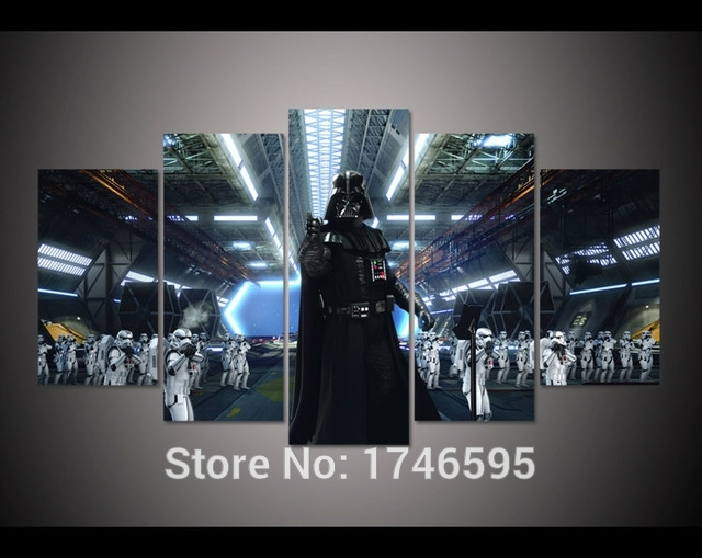 Print Darth Vader And Stormtroopers Star Wars Movie Poster Picture For Darth Vader Wall Art (Image 16 of 25)